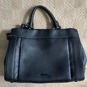 Rebecca Minkoff Black Leather Satchel Bag